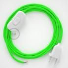 Komplet s stikalom, RF06 fluo zelen rejon 1,80 m. Izberite barvo vtikača in stikala.