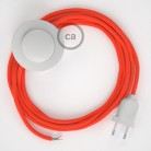 Komplet s talnim stikalom, RF15 fluo oranžen rejon 3 m. Izberite barvo vtikača in stikala.