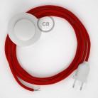 Komplet s talnim stikalom, RM09 rdeč rejon 3 m. Izberite barvo vtikača in stikala.