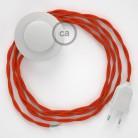 Komplet s talnim stikalom, TM15 oranžen rejon 3 m. Izberite barvo vtikača in stikala.