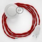 Komplet s talnim stikalom, TM09 rdeč rejon 3 m. Izberite barvo vtikača in stikala.