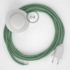 Komplet s talnim stikalom, RZ06 zigzag zelen rejon 3 m. Izberite barvo vtikača in stikala.