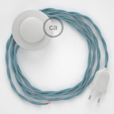 Komplet s talnim stikalom, TC53 svetlo moder Ocean bombaž 3 m. Izberite barvo vtikača in stikala.