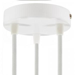 Cilindrična kovinska stropna rozeta s 3 izhodi - komplet
