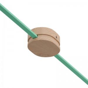Ovalna lesena rozeta za verigo luči z dvema izhodoma, Filé sistem