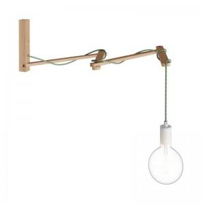 Pinocchio XL, nastavljiv leseni stenski nosilec za svetila