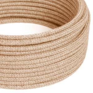 Okrogel električen kabel, naravna juta, RN06