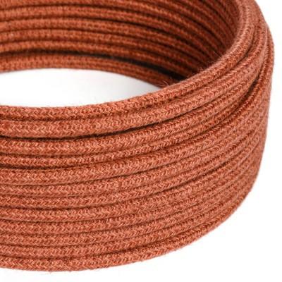 Okrogli električni kabel oranžna juta RN27