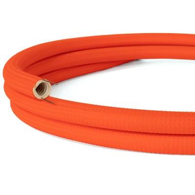 Creative-Tube prilagodljiva cev za kable, fluorescentno oranžne barve RF15, tekstil, premer 20 mm