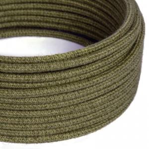 Okrogli električni kabel rjava juta RN26