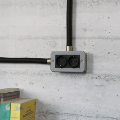 Kovinska razvodna doza z dvema šuko vtičnicama za Creative - Tube