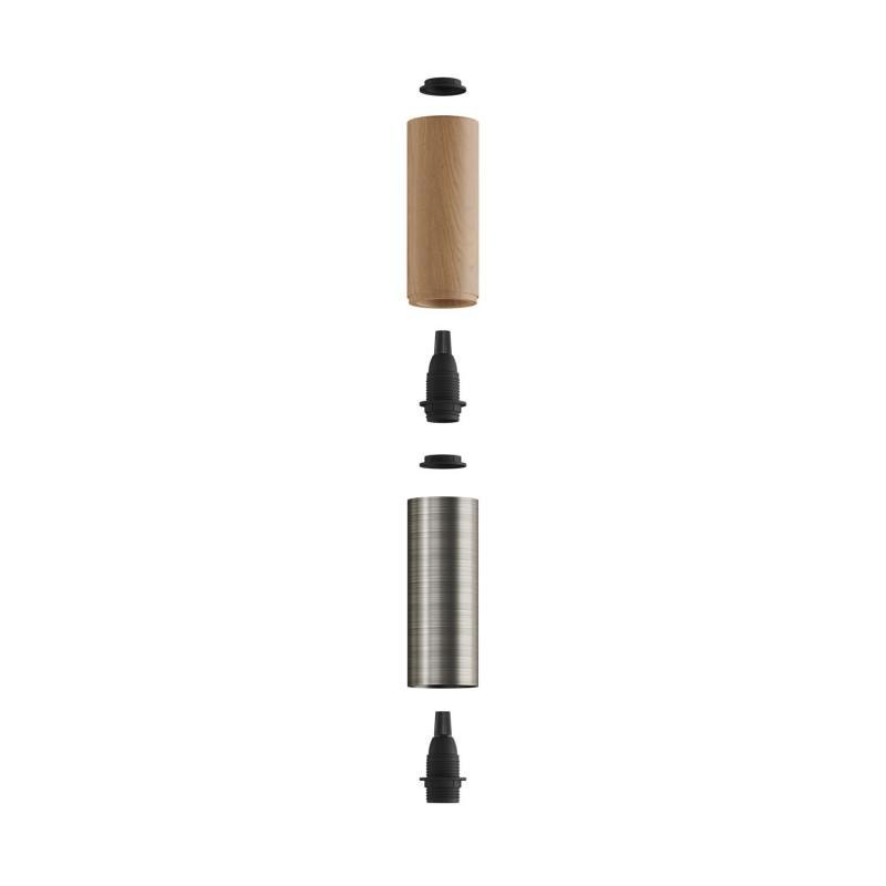 Tub-E14, dvojno leseno in kovinsko senčilo za grlo E14