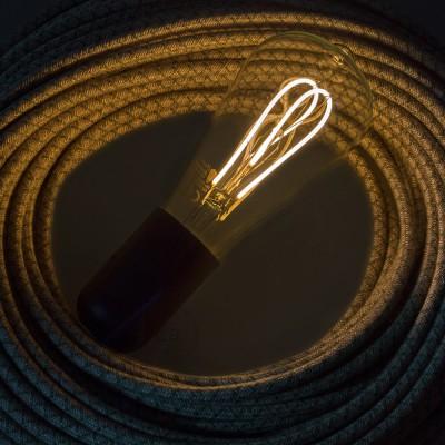 LED prozorna žarnica - Edison ST64 dvojna pentljasta nit - 5W E27 zatemna 2000K