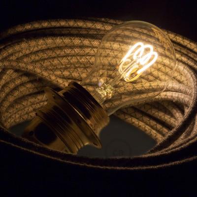 LED prozorna žarnica - Drop A60 spiralna nit - 3W E27 zatemna 2200K