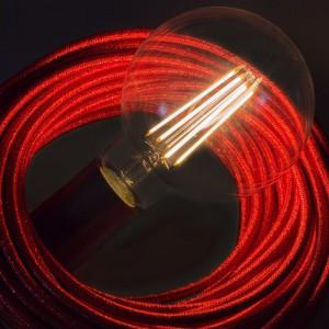 LED prozorna žarnica - Globe G95 dolga - 7.5W E27 dekorativna starinska zatemna 2200K