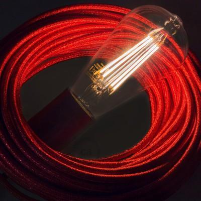 LED prozorna žarnica - Edison ST64 dolga - 7.5W E27 dekorativna starinska zatemna 2200K