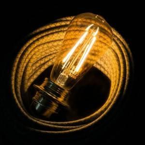 LED zlata žarnica - Edison ST64 dolga - 4W E27 dekorativna starinska 2000K