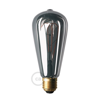 LED nitna žarnica Smoky - Edison ST64 dvojno zakrivljena pentlja - 5W E27 Zatemnilna 2000K