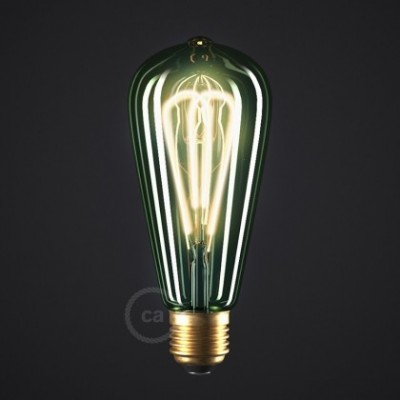 LED žarnica Smaragd - Edison ST64 dvojno zakrivljena pentlja - 5W E27 Zatemnilna 2200K
