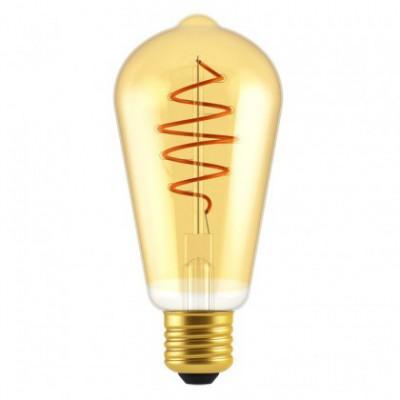 LED žarnica Edison ST64 Golden Croissant s spiralno nitko 5W E27 zatemnilna 2000K