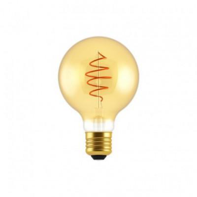 LED žarnica Globe G80 Golden Croissant s spiralno nitko 5W E27 zatemnilna 2000K
