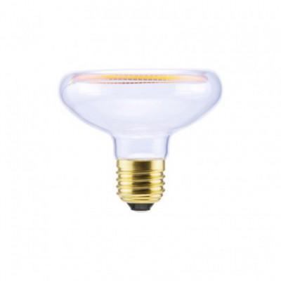 LED Reflector R80 Clear Floating Line žarnica, 8W zatemnilna, 2200K