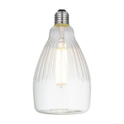 LED Rea Clear Crystal Line 6W E27 2700K zatemnilna žarnica